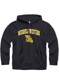 Missouri Western Griffons Rally Fleece Arch Mascot Hooded Sweatshirt - Black
