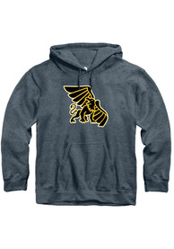 Missouri Western Griffons Rally Fleece Team Logo Hooded Sweatshirt - Charcoal