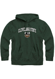 Cleveland State Vikings Rally Fleece Arch Mascot Hooded Sweatshirt - Green