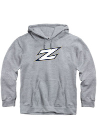 Akron Zips Rally Fleece Team Logo Hooded Sweatshirt - Grey