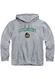 Cleveland State Vikings Rally Fleece Arch Mascot Hooded Sweatshirt - Grey