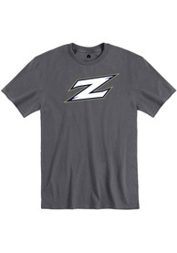 Akron Zips Rally Team Logo T Shirt - Charcoal