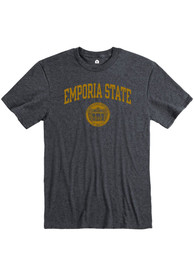Emporia State Hornets Rally Ringspun Seal T Shirt - Grey