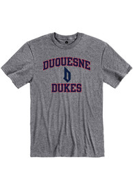 Duquesne Dukes Rally Ringspun Number One T Shirt - Grey
