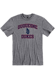 Rally Duquesne Dukes Grey Ringspun Number One Short Sleeve T Shirt