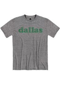 Dallas Snow Heather Graphite Retro Short Sleeve T-Shirt