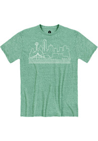 Dallas Snow Heather Green Skyline Short Sleeve T-Shirt