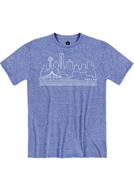 Dallas Snow Heather Royal Skyline Short Sleeve T-Shirt