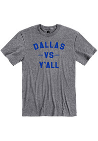 Dallas Heather Graphite vs Y'all Short Sleeve T-Shirt