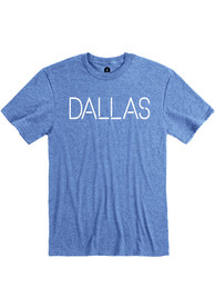 Dallas Heather Royal Disconnected Short Sleeve T-Shirt