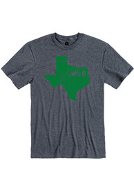 Texas Heather Navy State Love Short Sleeve T-Shirt