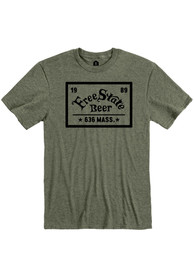 Free State Brewing Co. Heather City Green Logo and Quote Short Sleeve T-Shirt