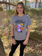 Auntie Mae's Parlor Grey Snow Heather Cocktail Short Sleeve T-Shirt