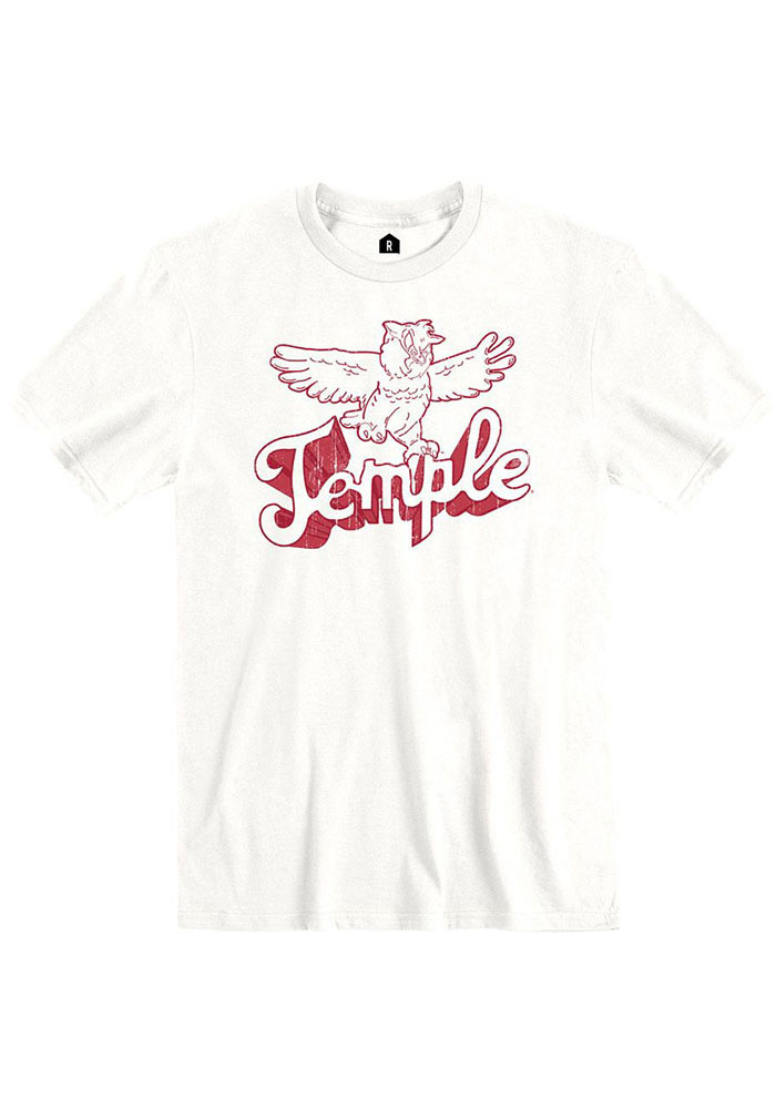 Temple Owls Rally Vault Temple Fashion T Shirt - White