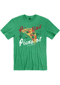 Picasso's Pizzeria Heather Green Pizza Slice Short Sleeve T-Shirt
