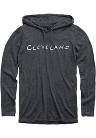 Cleveland Heather Dark Grey Dots LS Hooded Tee