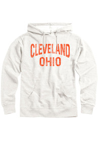 Cleveland Heather Oatmeal Arch LS Hooded Sweatshirt