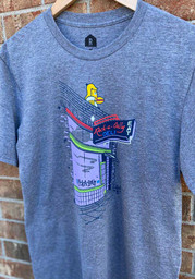 Rock-A-Belly Deli Graphite Building Front Short Sleeve T-Shirt