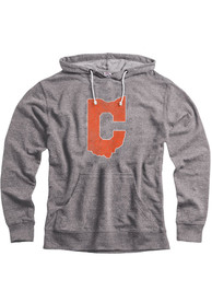 Cleveland Graphite Snow Heather C State LS Hooded Sweatshirt