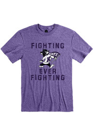 K-State Wildcats Rally Fighting Ever Fighting Fashion T Shirt - Purple