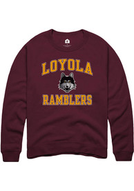 Loyola Ramblers Rally Number One Design T Shirt - Maroon