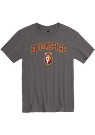Bloomsburg University Huskies Rally Arch Mascot T Shirt - Charcoal
