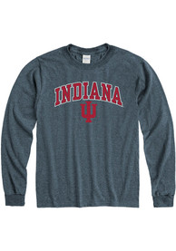 Indiana Hoosiers Arch Mascot T Shirt - Charcoal