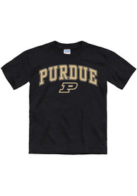 Purdue Boilermakers Youth Arch Mascot T-Shirt - Black