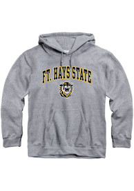 Fort Hays State Tigers Arch Mascot Hooded Sweatshirt - Grey