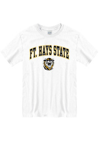 Fort Hays State Tigers Arch Mascot T Shirt - White
