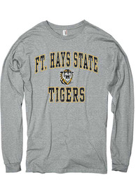 Fort Hays State Tigers Dual Blend T Shirt - Grey