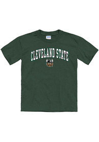 Cleveland State Vikings Youth Arch Mascot T-Shirt - Green
