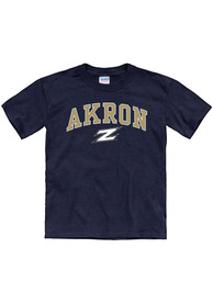Akron Zips Youth Arch Mascot T-Shirt - Navy Blue