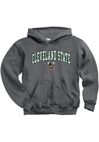 Cleveland State Vikings Youth Arch Mascot Hooded Sweatshirt - Charcoal