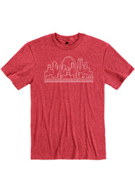 St Louis Rally Skyline Fashion T Shirt - Red