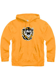 Fort Hays State Tigers Primary Logo Hooded Sweatshirt - Gold
