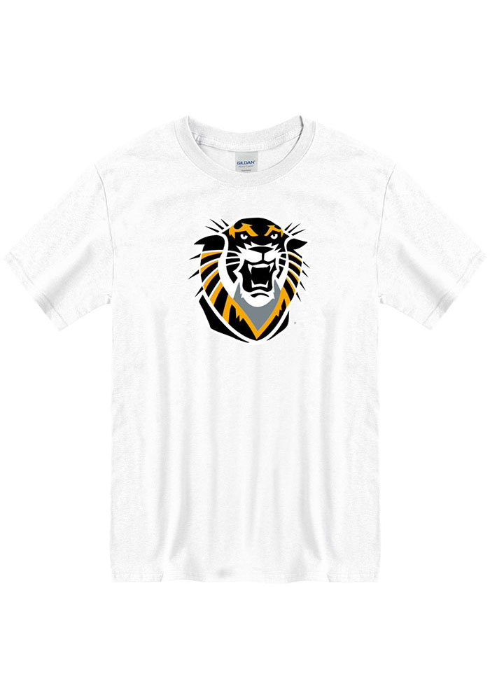 Fort Hays State Tigers White Primary Logo Short Sleeve T Shirt - Image 1