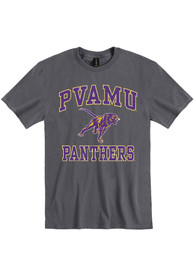 Prairie View A&M Panthers Number One Design T Shirt - Charcoal