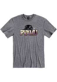 Prairie View A&M Panthers Primary Logo T Shirt - Grey