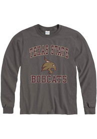 Texas State Bobcats Number One Design T Shirt - Charcoal