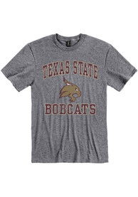 Texas State Bobcats Number One Design T Shirt - Grey