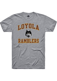 Loyola Ramblers Rally Number One Design T Shirt - Grey