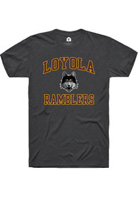 Loyola Ramblers Rally Number One Design T Shirt - Charcoal