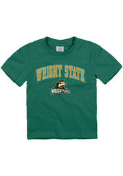 Wright State Raiders Toddler Green Arch Mascot Short Sleeve T-Shirt