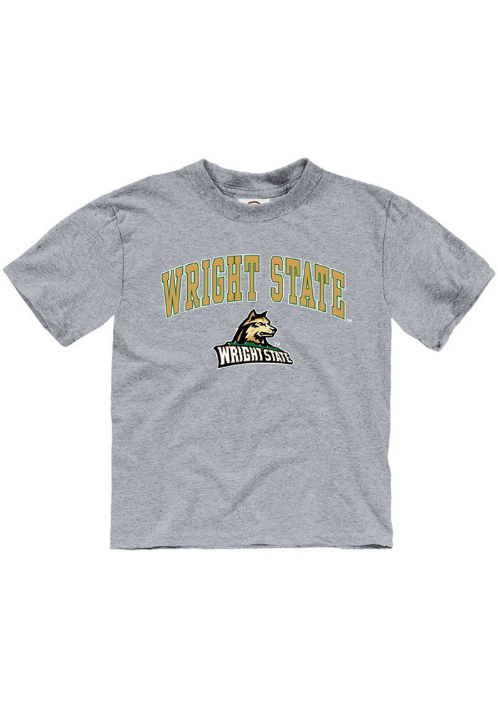Wright State Raiders Toddler Grey Arch Mascot Short Sleeve T-Shirt - Image 1