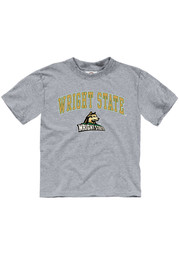 Wright State Raiders Toddler Grey Arch Mascot Short Sleeve T-Shirt