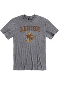 Lehigh University Distressed T Shirt - Grey
