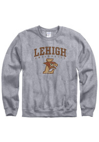 Lehigh University Distressed Crew Sweatshirt - Grey