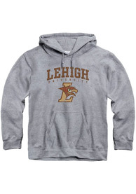 Lehigh University Distressed Hooded Sweatshirt - Grey