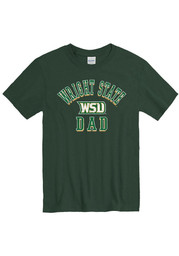 Wright State Raiders Green Dad Number One Short Sleeve T Shirt